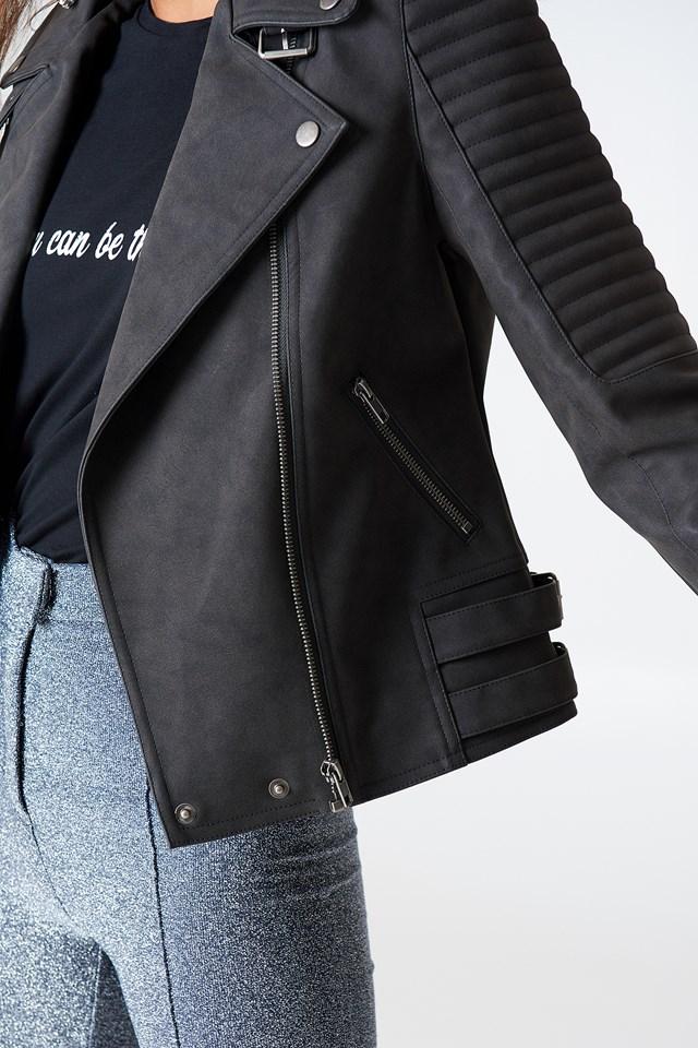 PU Biker Jacket Black