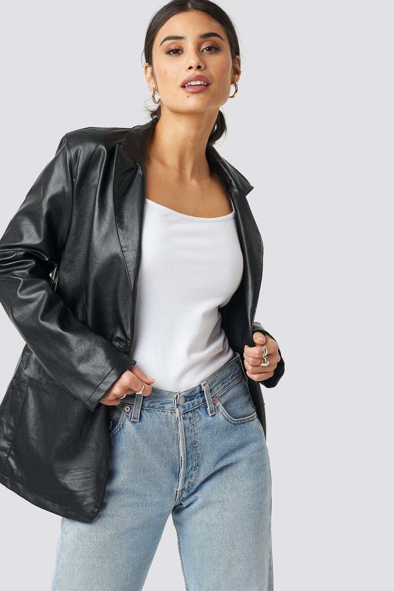 na-kd trend -  PU Blazer - Black