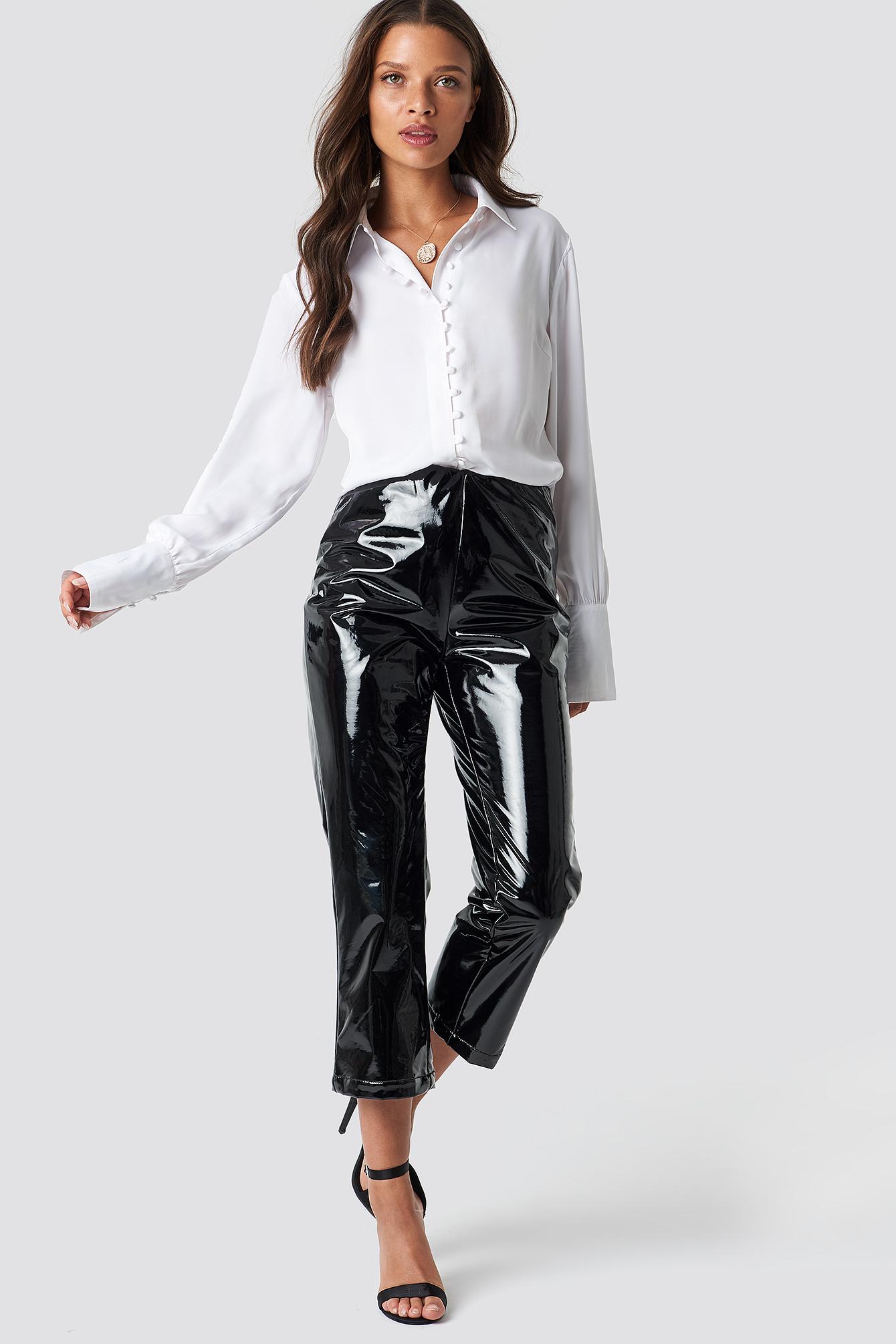 na-kd party -  PU Legging Pants - Black
