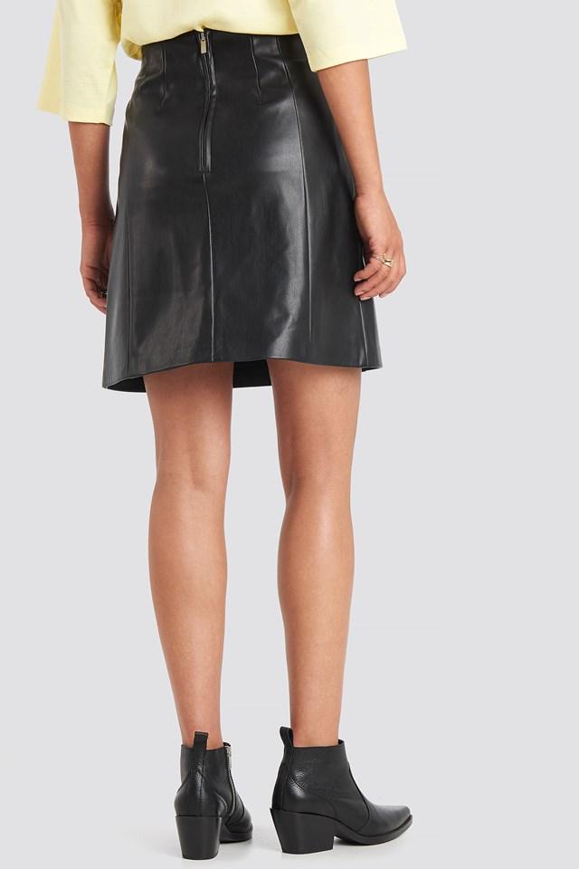 PU Mini Skirt Black