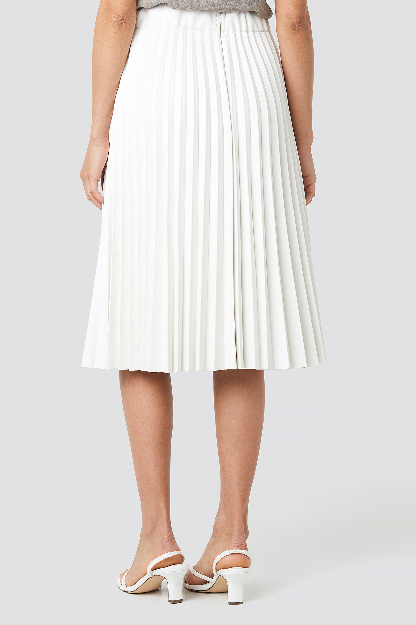 PU Pleated Midi Skirt NA-KD.COM