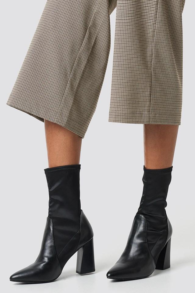 PU Satin Sock Boots NA-KD.COM