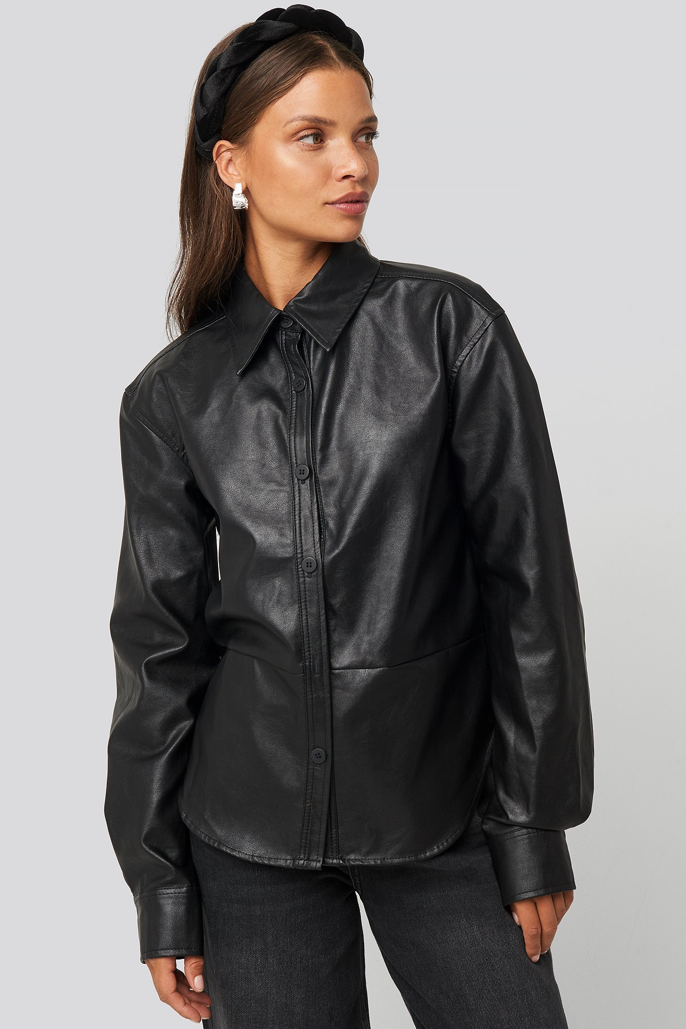 na-kd trend -  Pu Shirt - Black