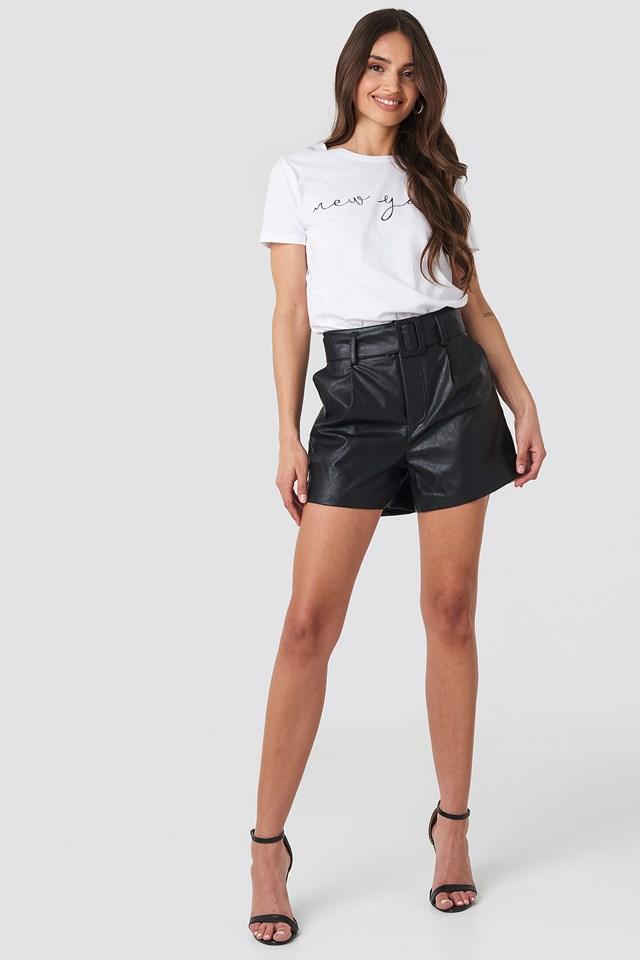 PU Shorts Black