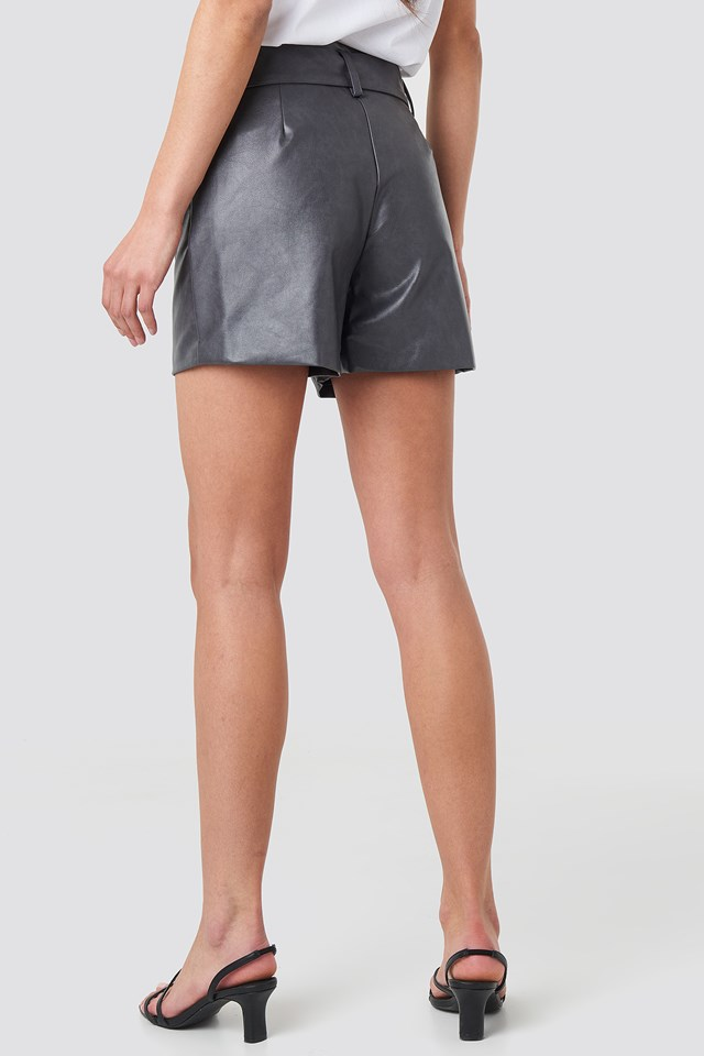 PU Shorts Grey