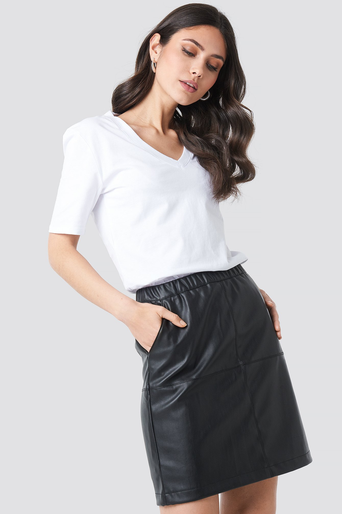 na-kd -  PU Zip Mini Skirt - Black