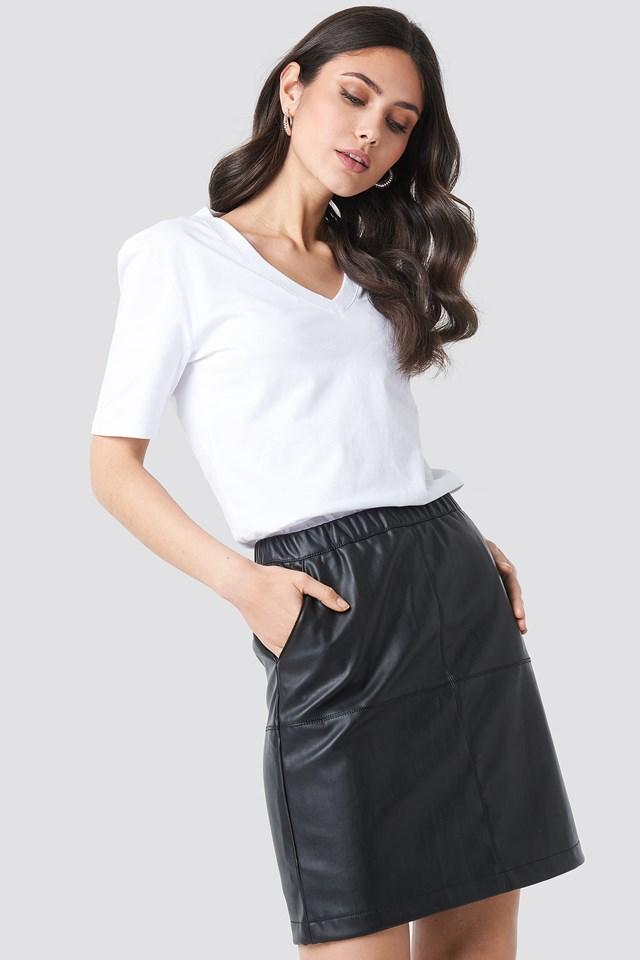PU Zip Mini Skirt NA-KD.COM