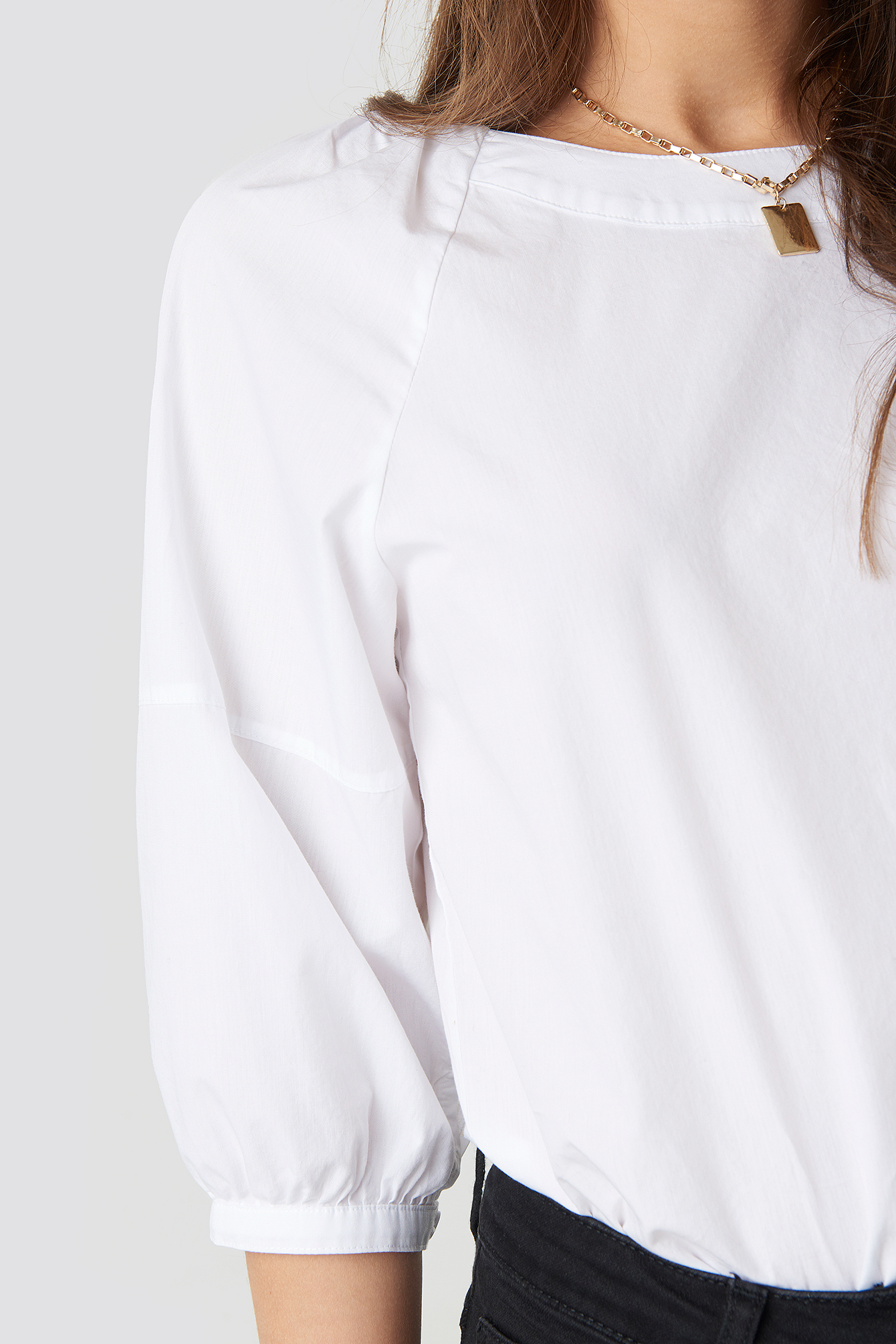 Puff Sleeve Cotton Top NA-KD.COM