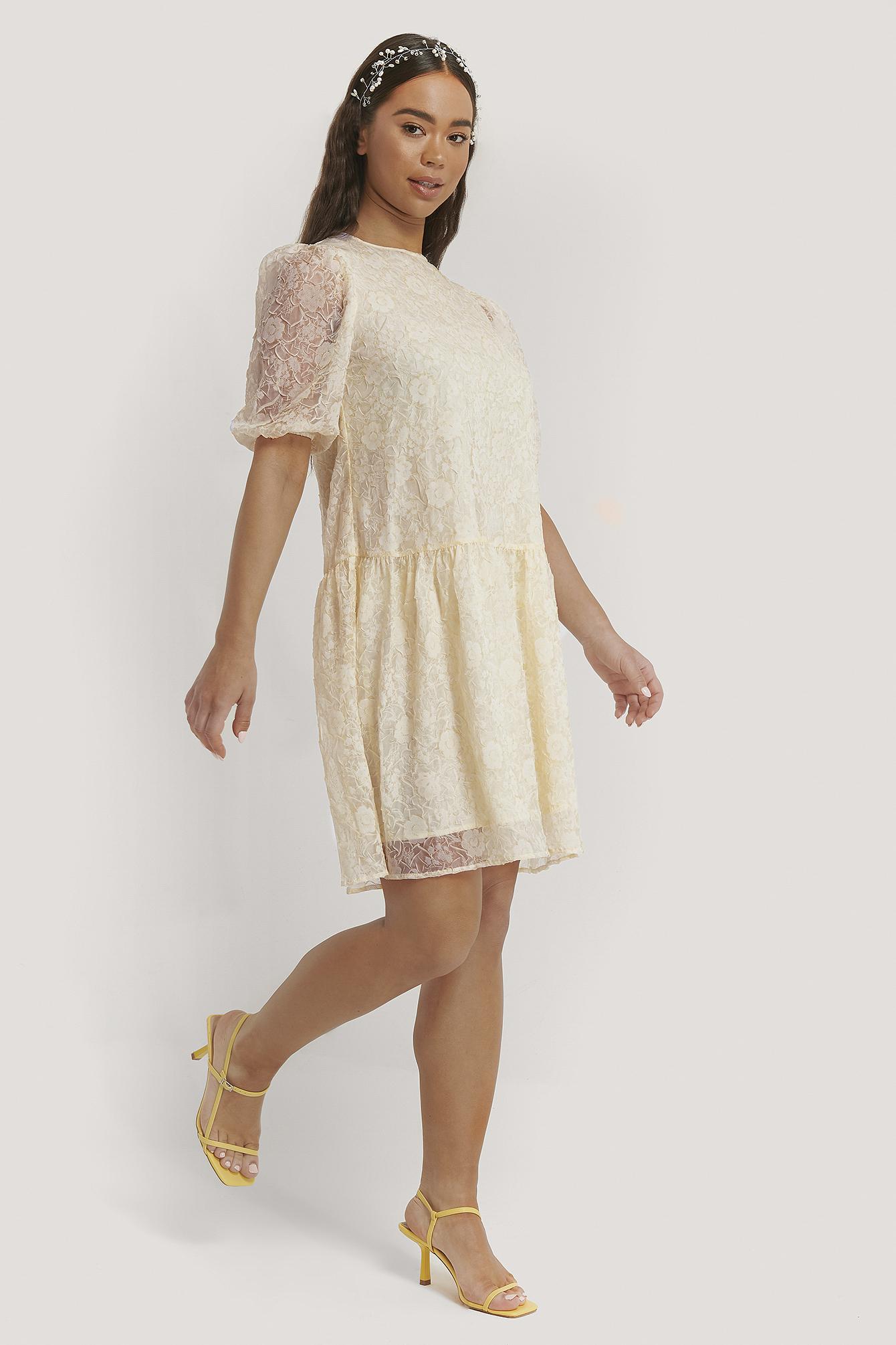 na-kd boho -  Kleid Mit Puffärmeln - White