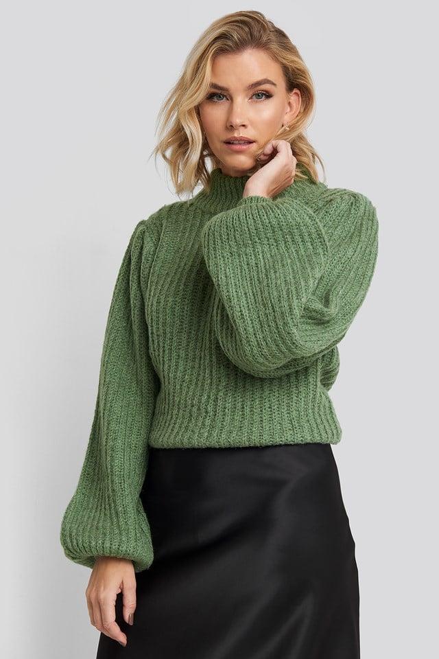 Puff Sleeve Knitted Sweater NA-KD
