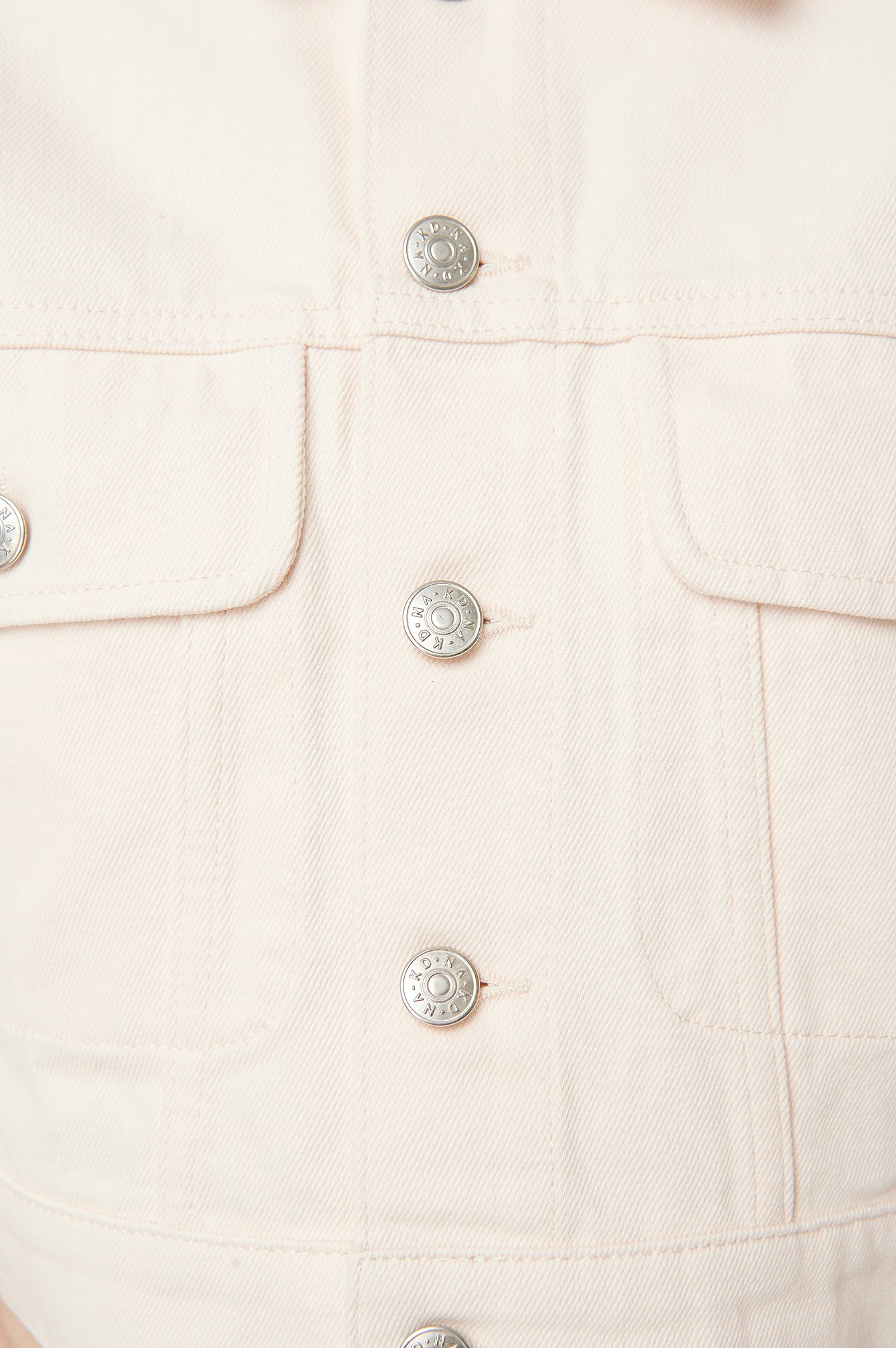 Eggshell Puff Sleeve Oversized Denim Jacket