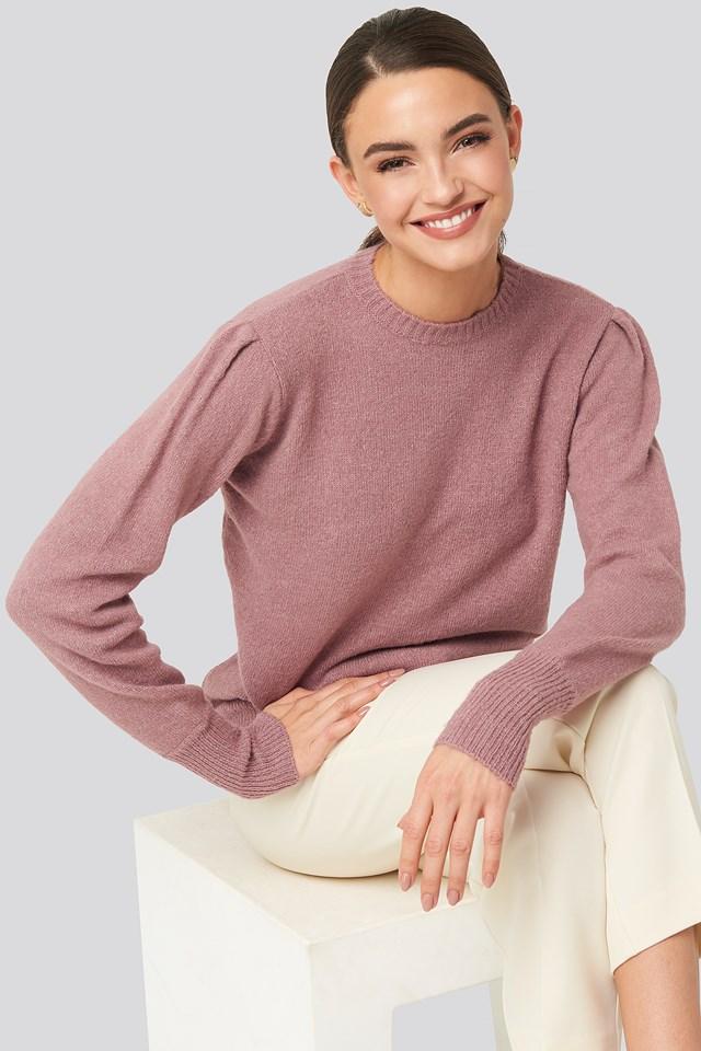 Puff Sleeve Sweater NA-KD