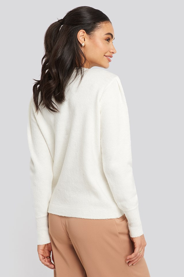Puff Sleeve Sweater Off White