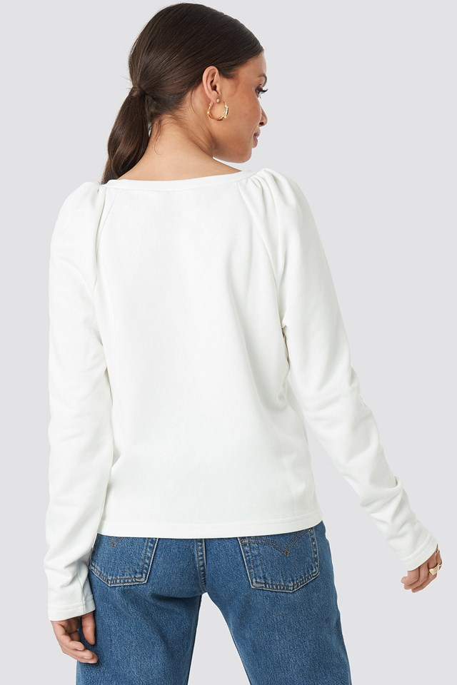 Puff Sleeve Sweater Offwhite