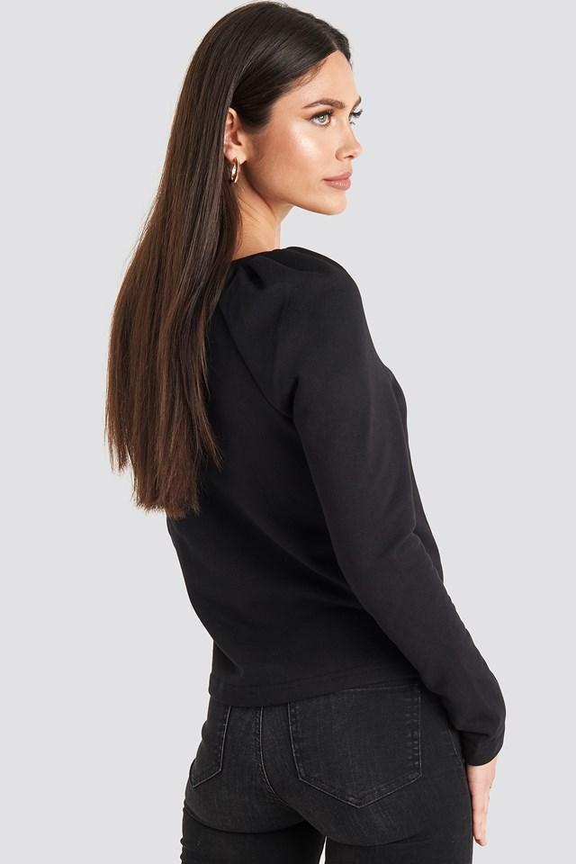 Puff Sleeve Sweater Black