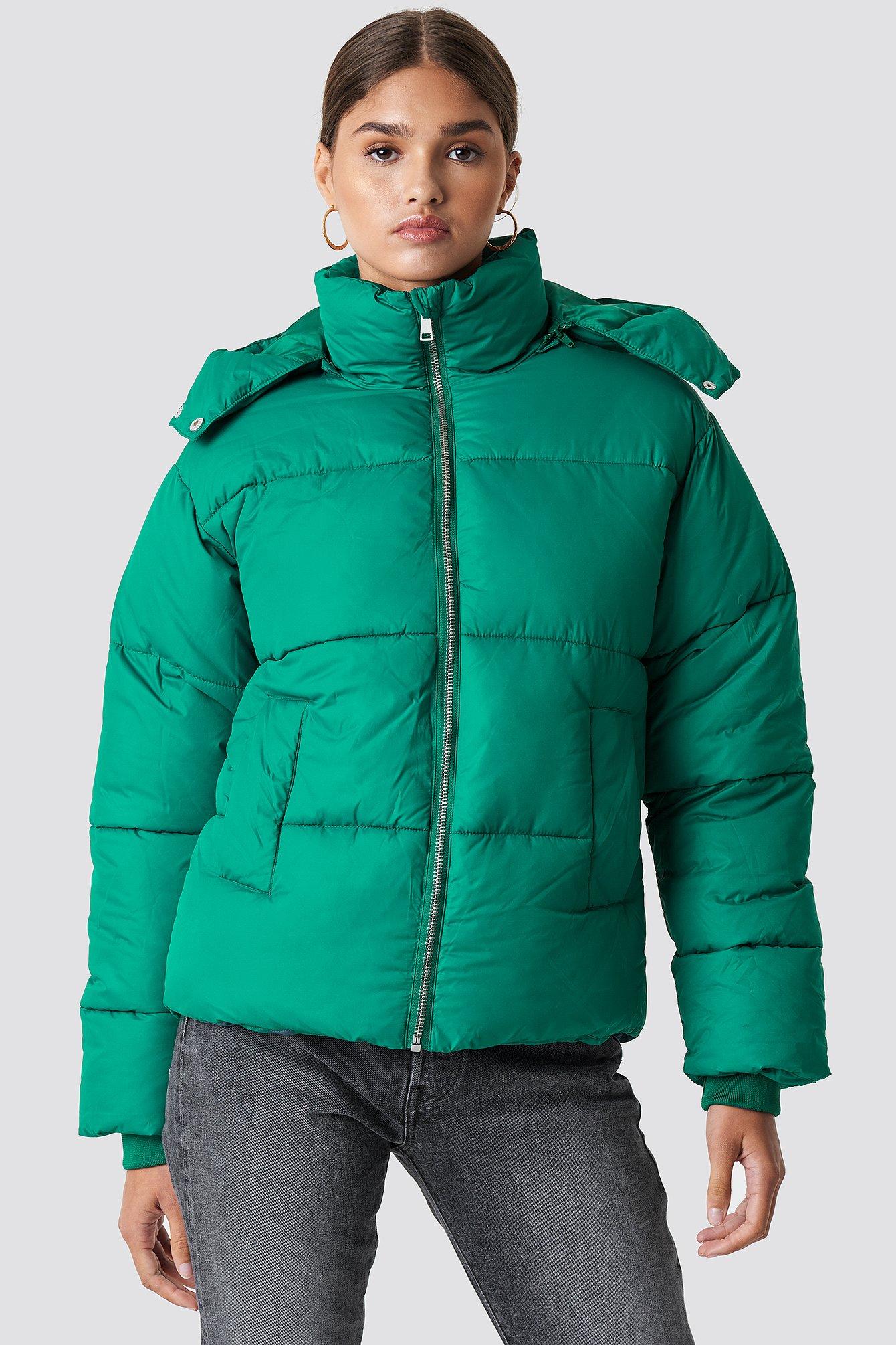 na-kd -  Puffer Jacket - Green