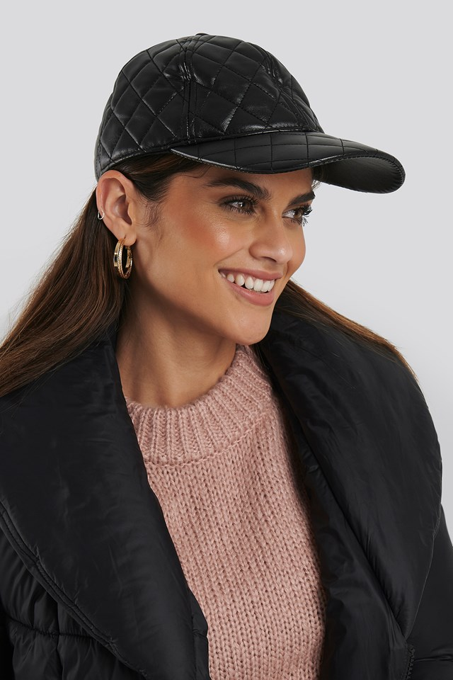 Quilted Baseball Cap Black