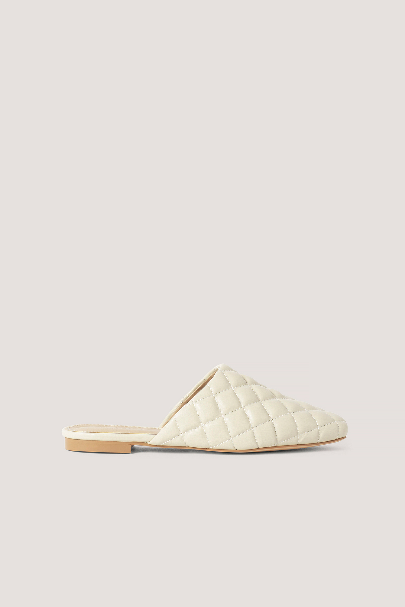 Offwhite Quilted Loafers