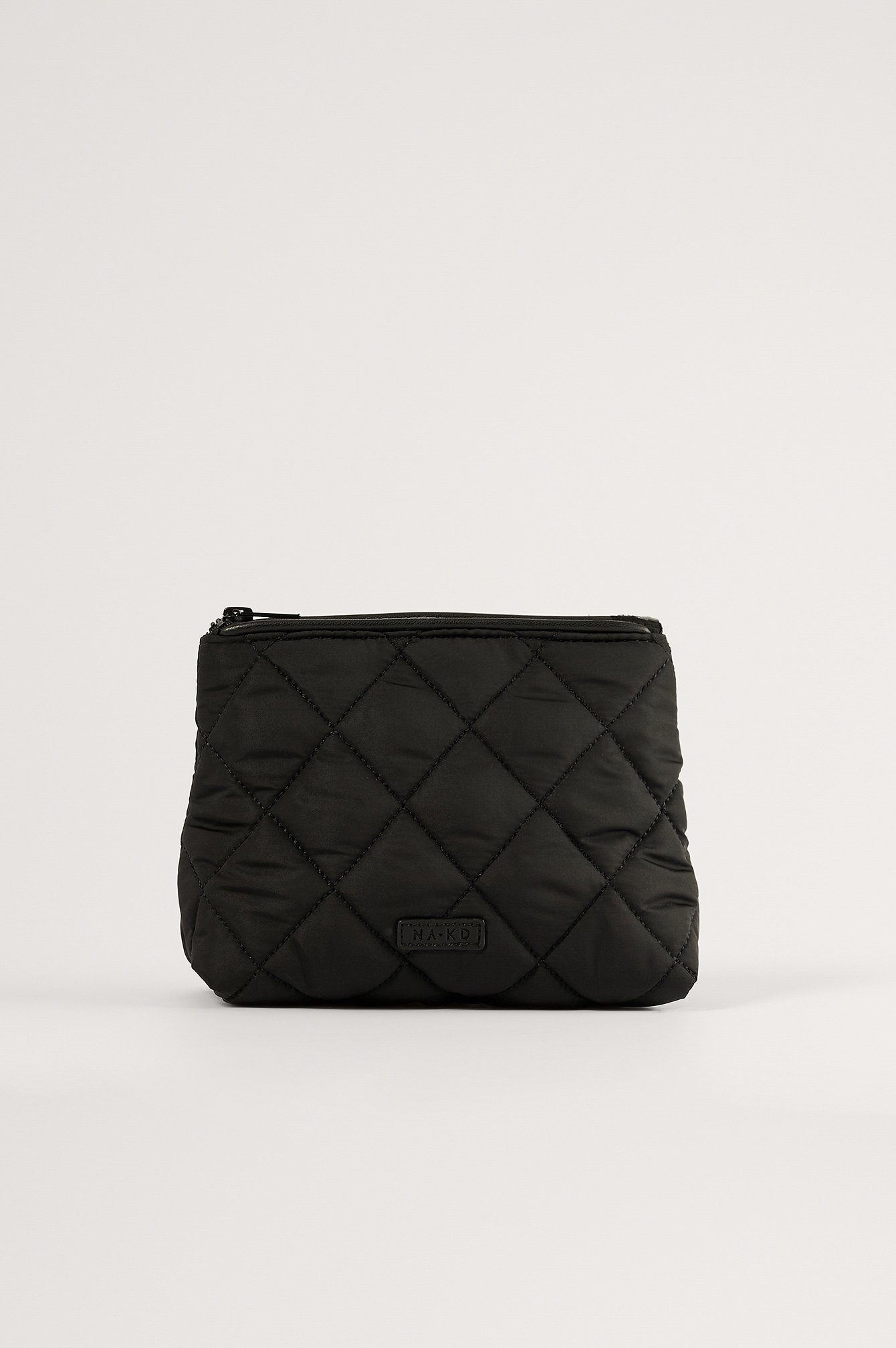 NA-KD Accessories Quilted Make Up Bag - Black