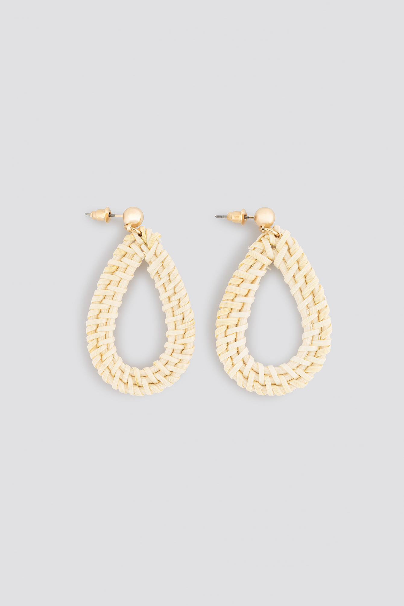 Raffia Drop Earrings NA-KD.COM