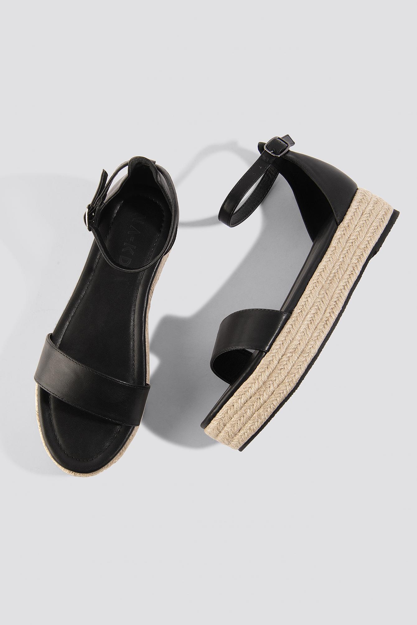 Raffia Flat Sole Sandals NA-KD.COM