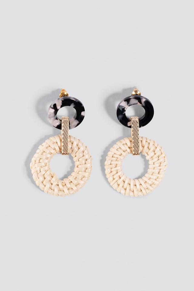 Raffia Hoop Earrings NA-KD.COM