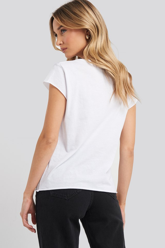 Raw Edge Tee White