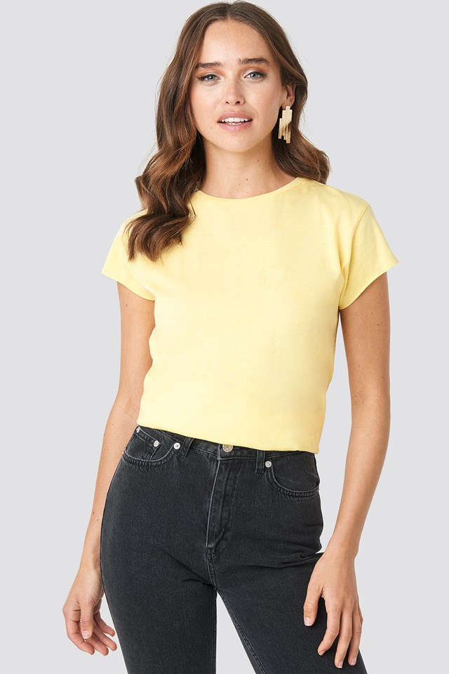 Raw Edge Tee Yellow