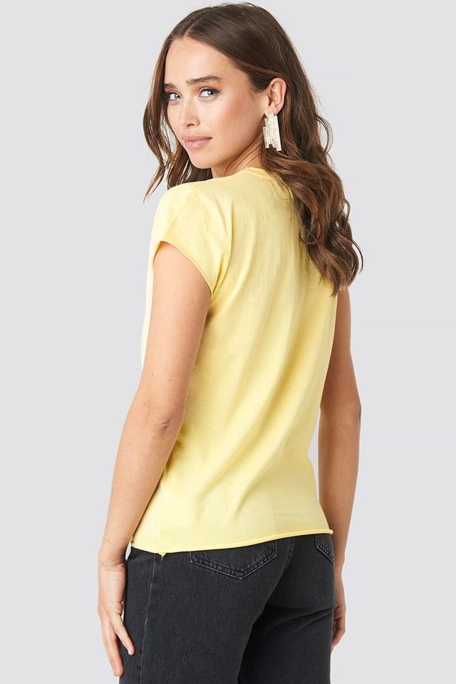 Raw Edge Tee Yellow