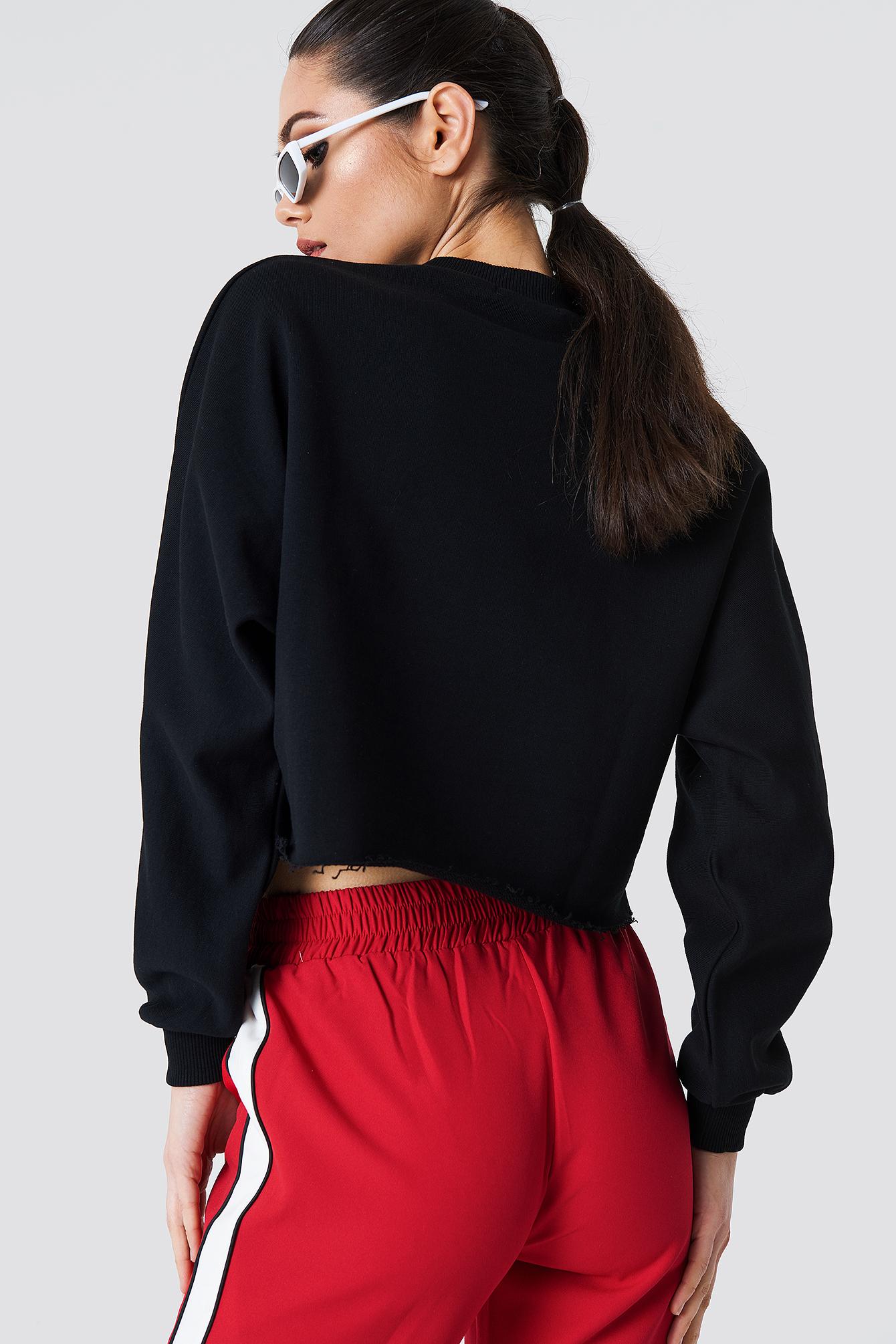 Bluza nietoperz z surowym brzegiem NA-KD.COM
