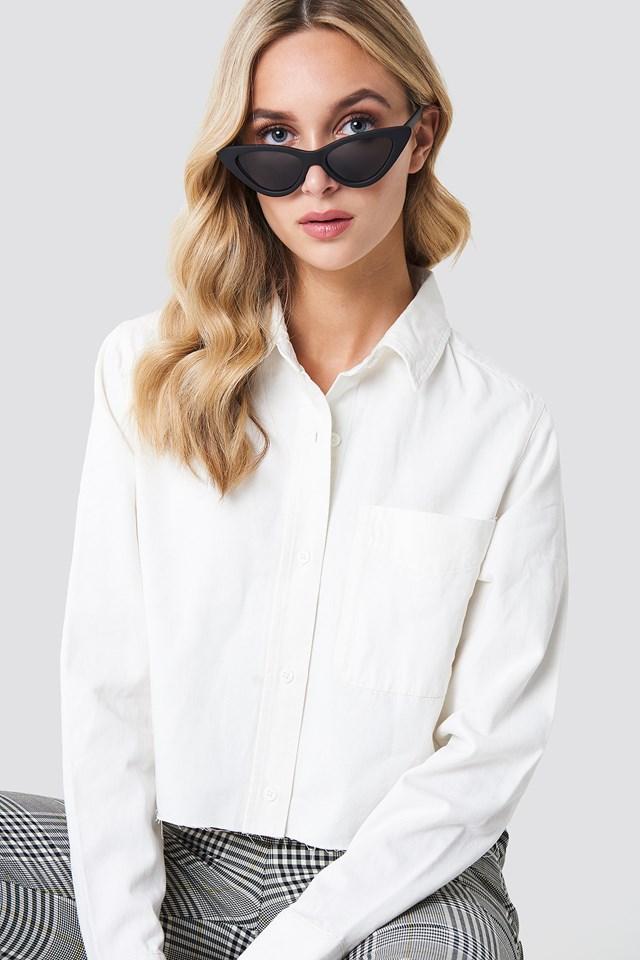 Raw Hem Denim Shirt NA-KD Trend
