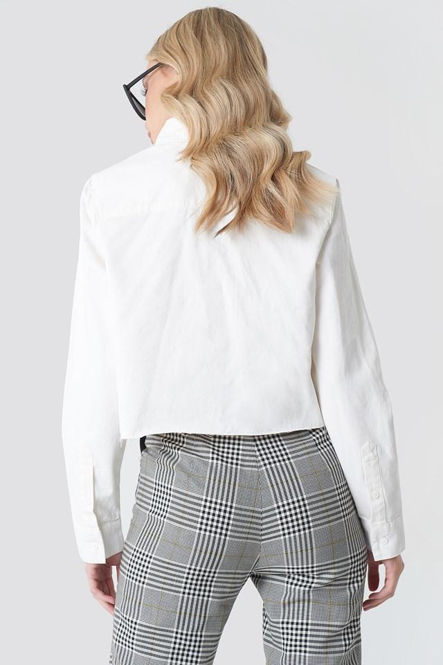Koszula jeansowa z surowym brzegiem White