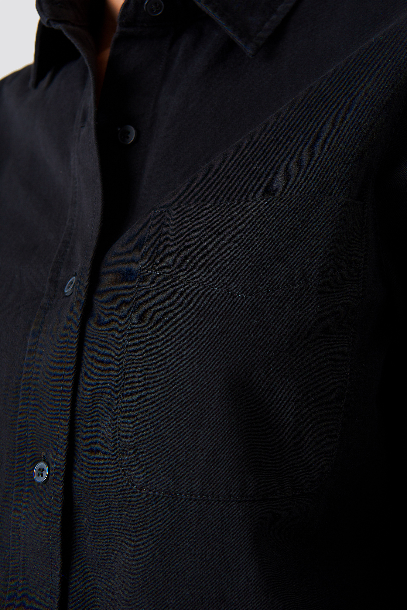 Koszula jeansowa z surowym brzegiem NA-KD.COM
