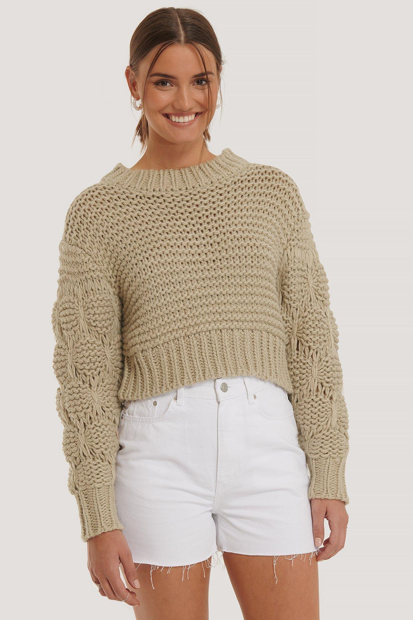 na-kd -  Jeans-Shorts Grober Saum - White