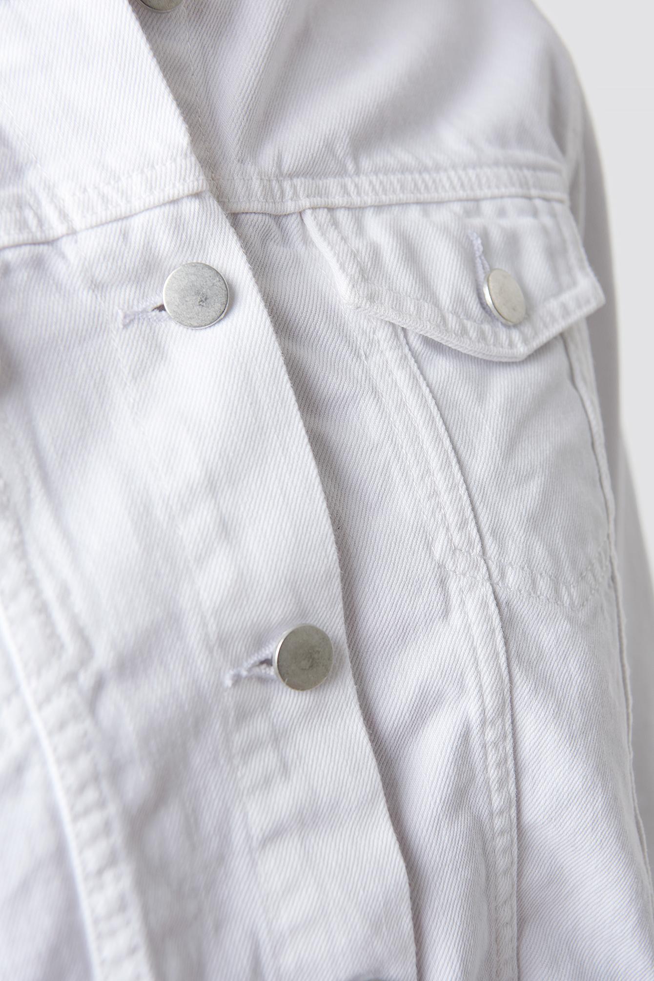 Raw Hem Short Denim Jacket NA-KD.COM