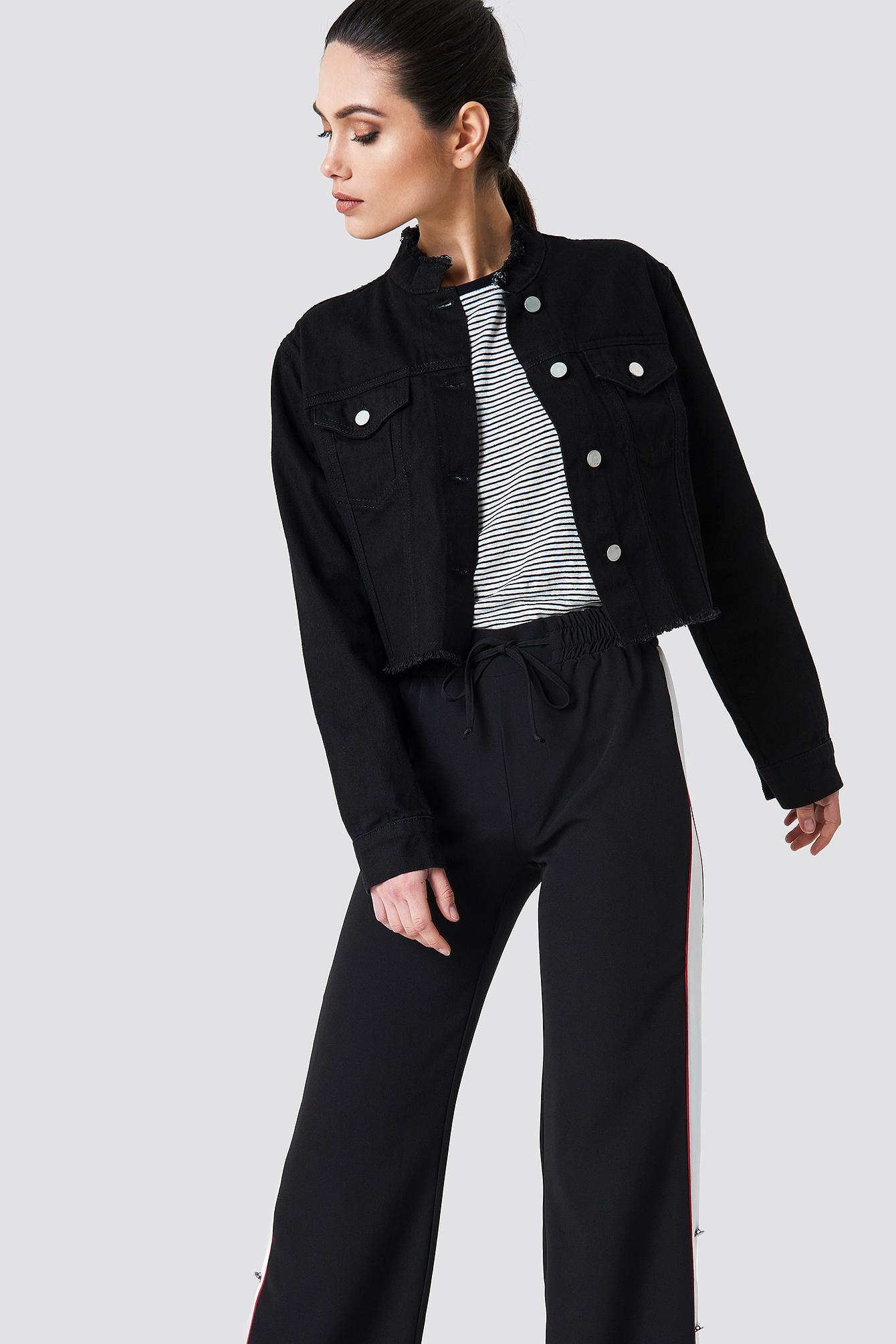 Krótka kurtka jeansowa NA-KD.COM