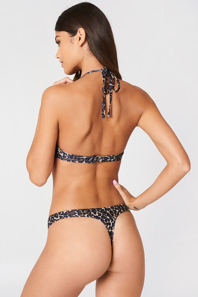 Bella High-Cut Bikini Pantie Leoprint
