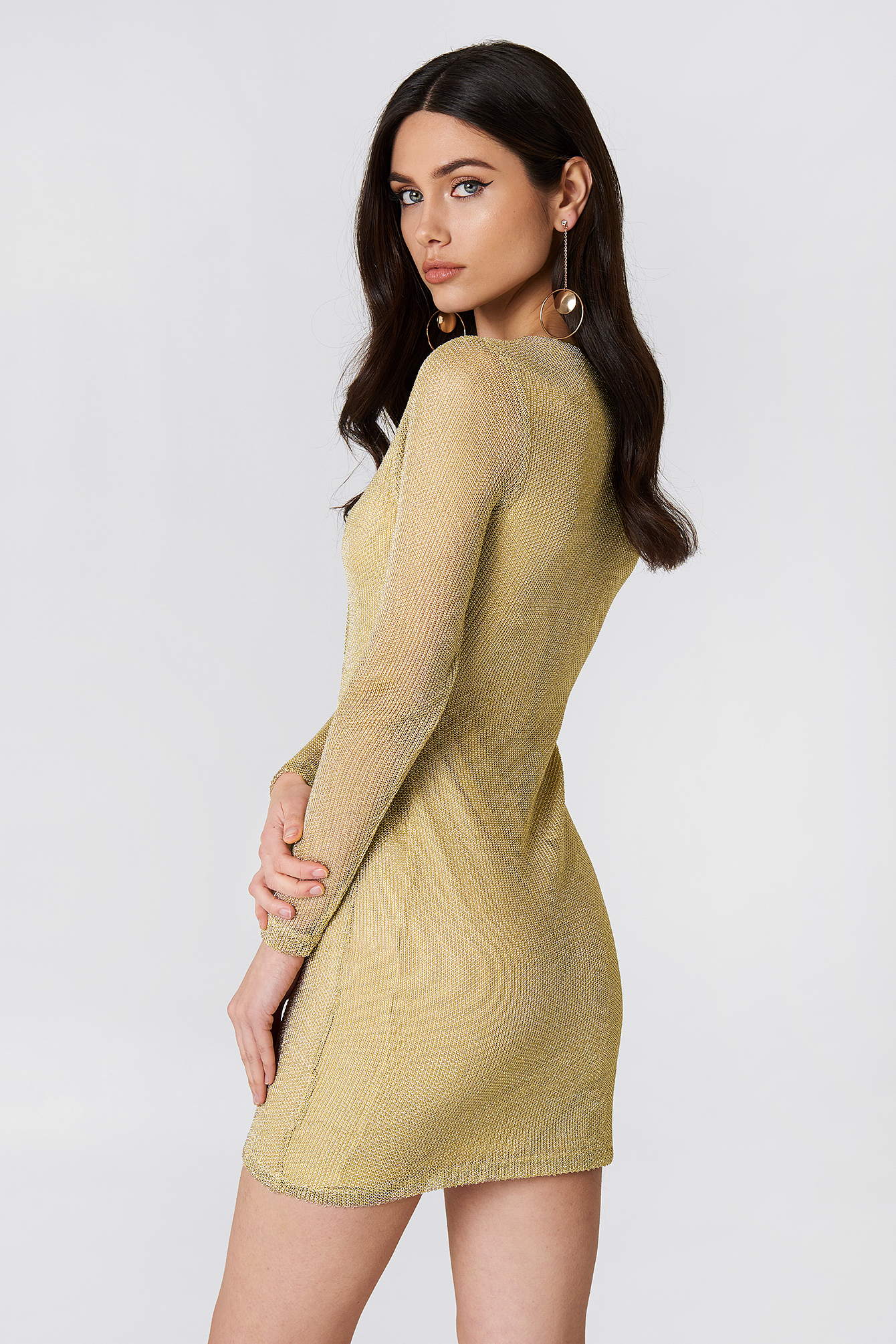 Gold Metallic Dress NA-KD.COM