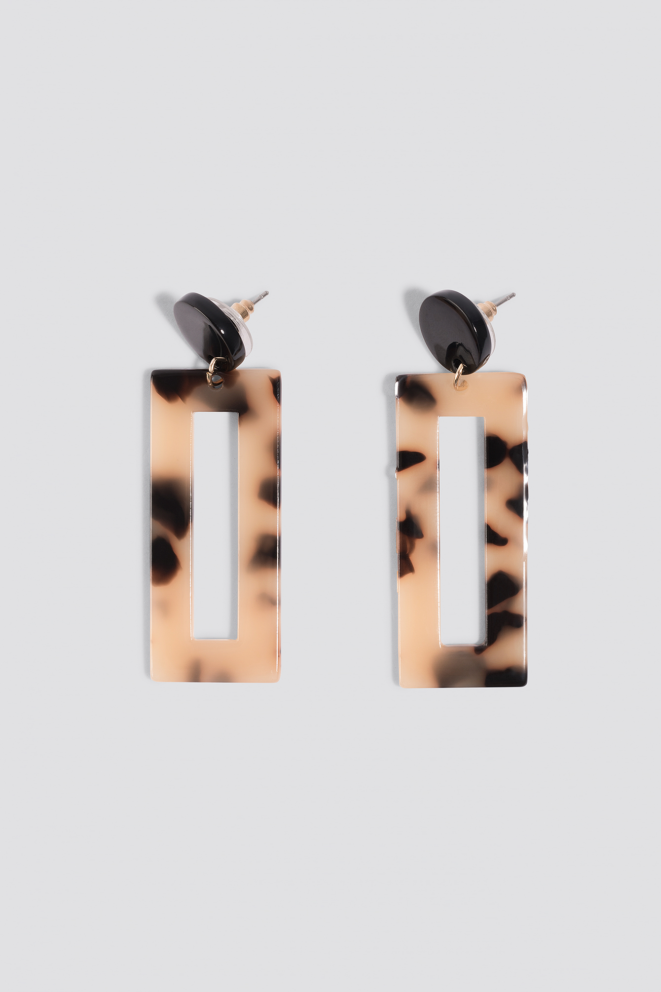 Rectangular Resin Look Earrings NA-KD.COM