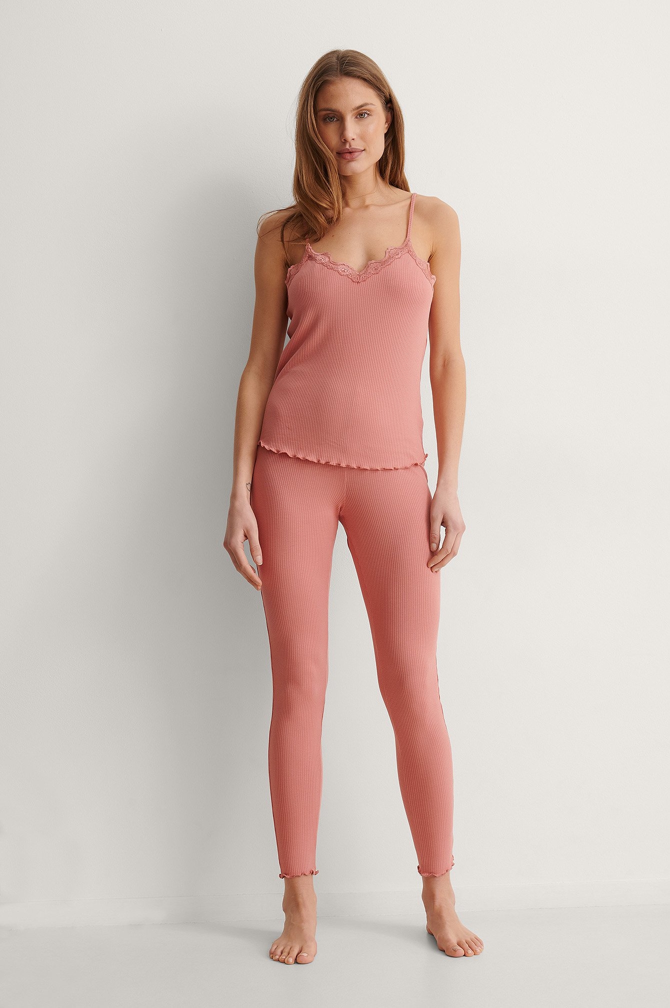 NA-KD Lingerie Tights - Pink