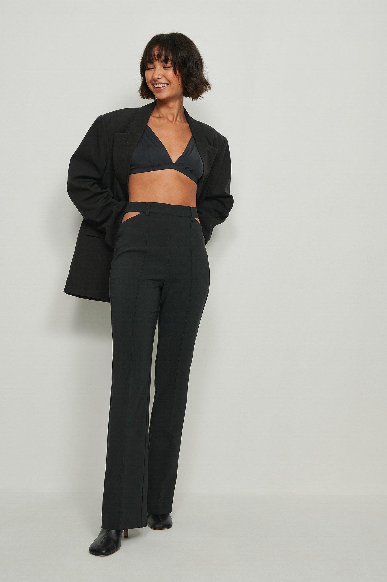 na-kd trend -  Recycelt anzughose - Black