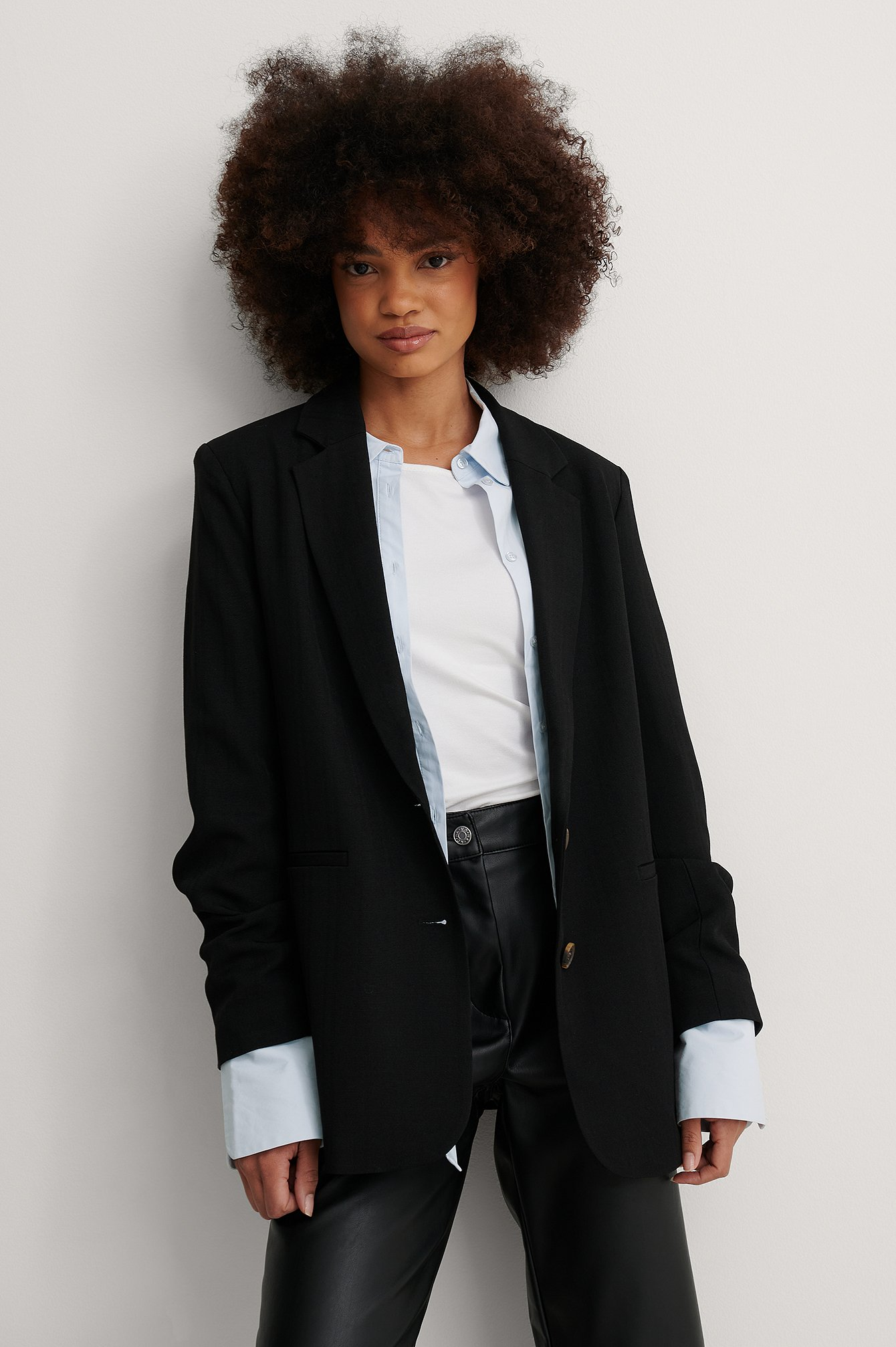 Black Recycled Blazer