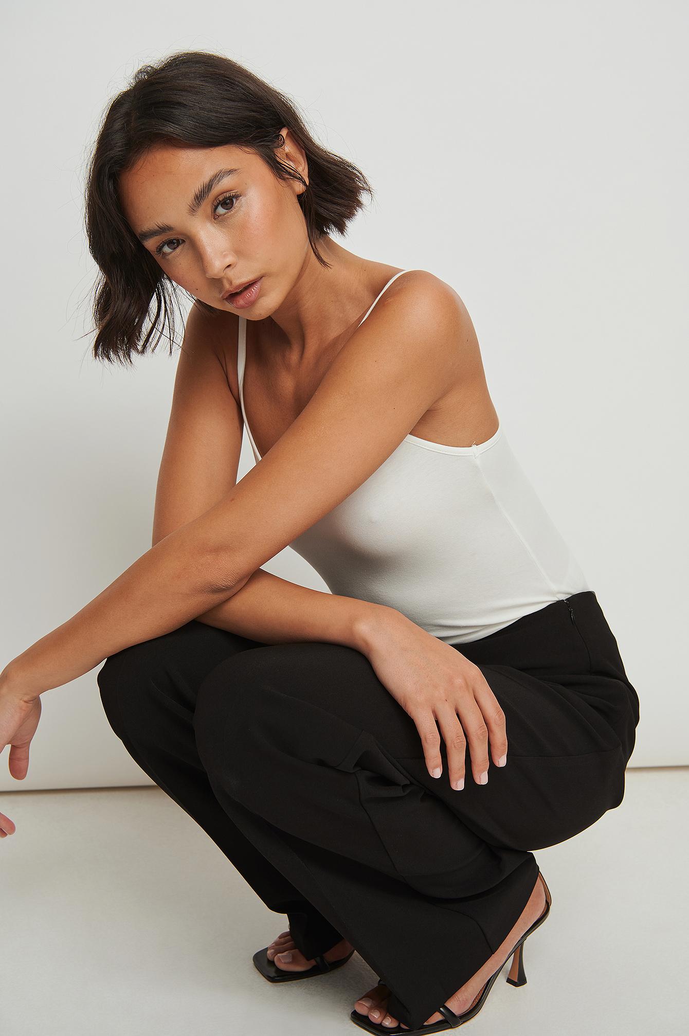 na-kd classic -  Recycelte Zugeschnittene Anzughose - Black