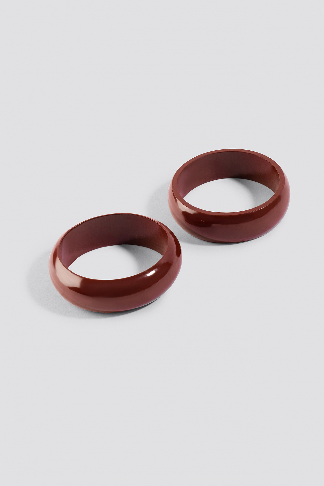 Red Wooden Bangles NA-KD.COM