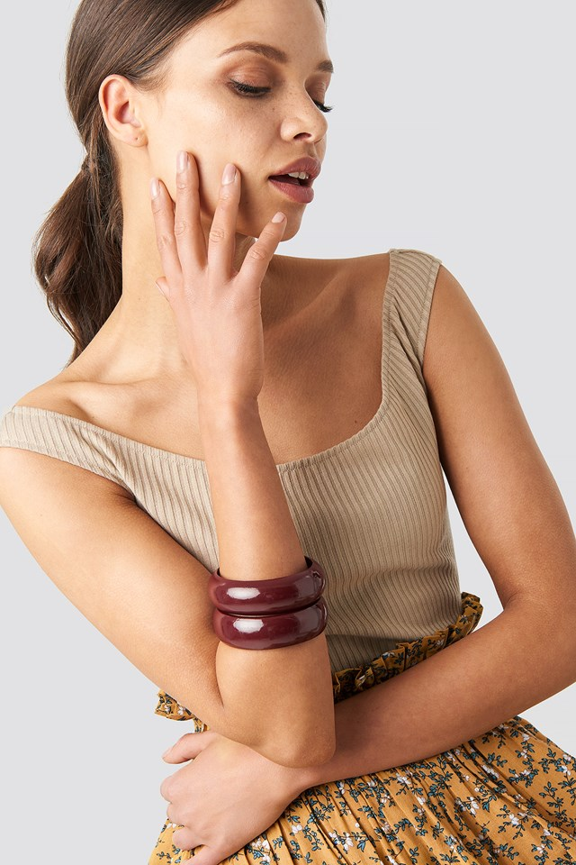 Red Wooden Bangles Red