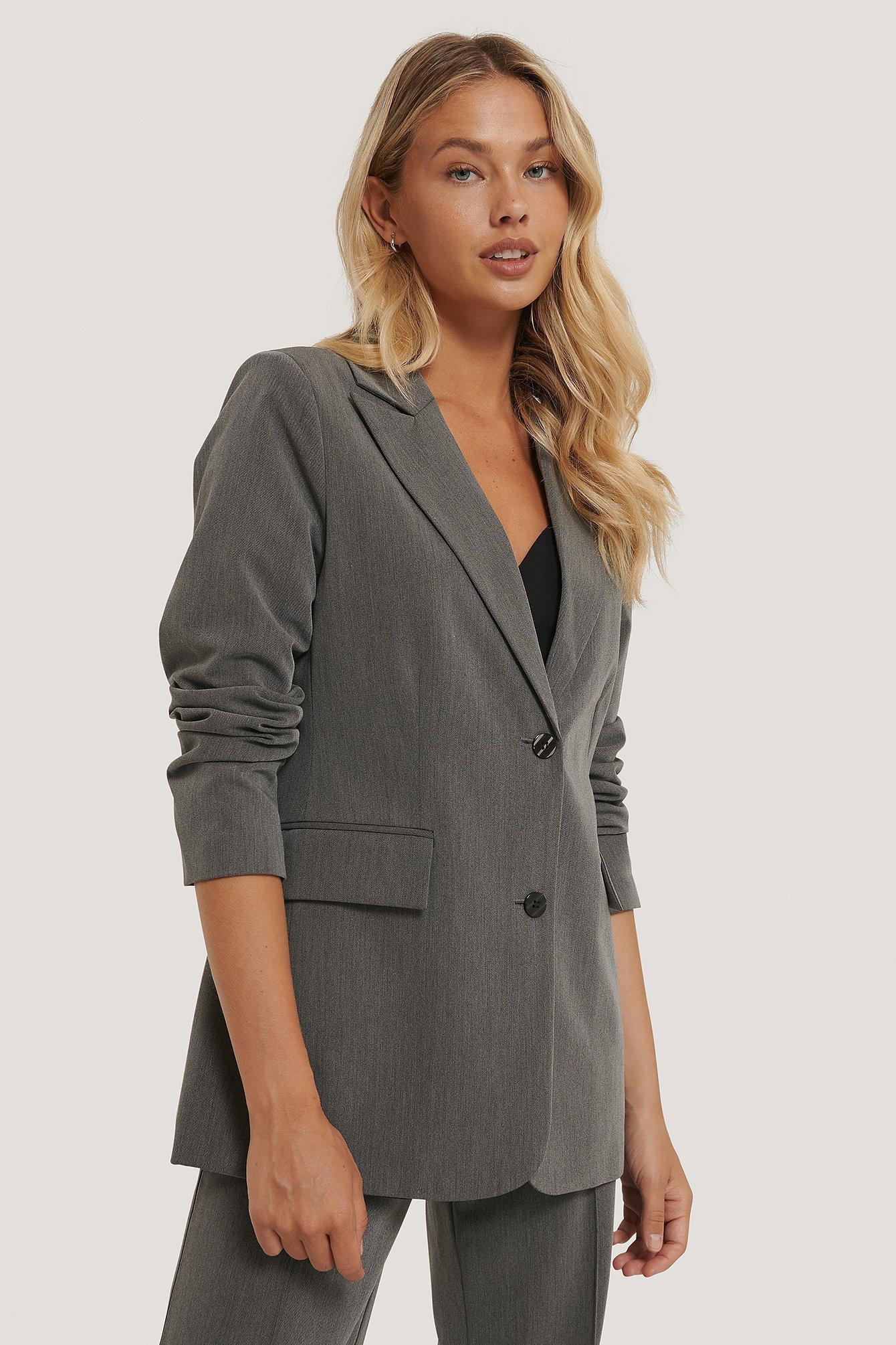 na-kd classic -  Blazer Mit Weiter Passform - Grey