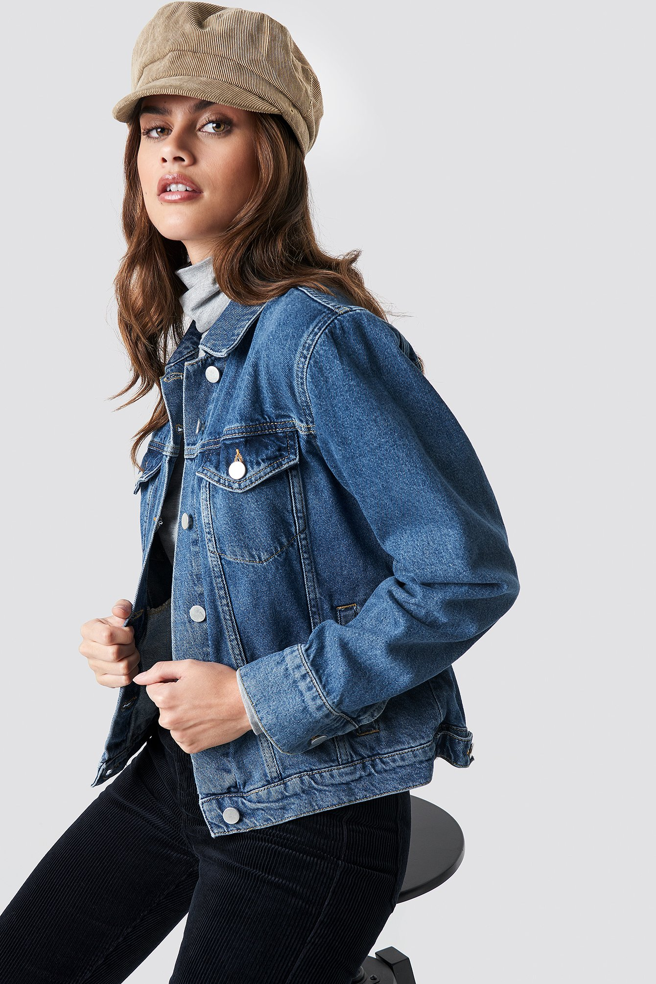 Regular Denim Jacket Bleu by Na Kd