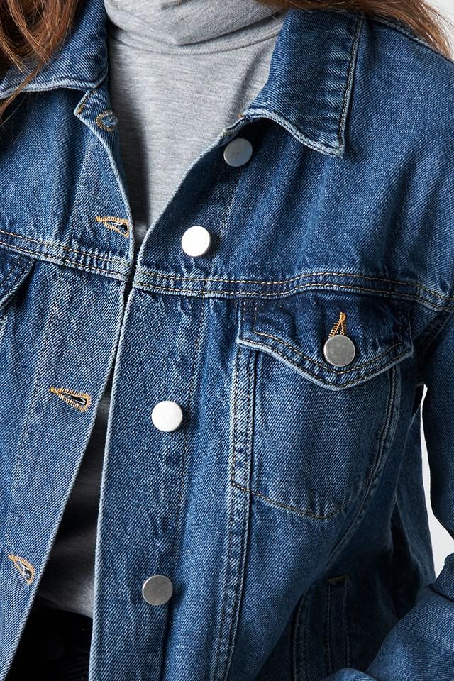 Regular Denim Jacket Dark Blue