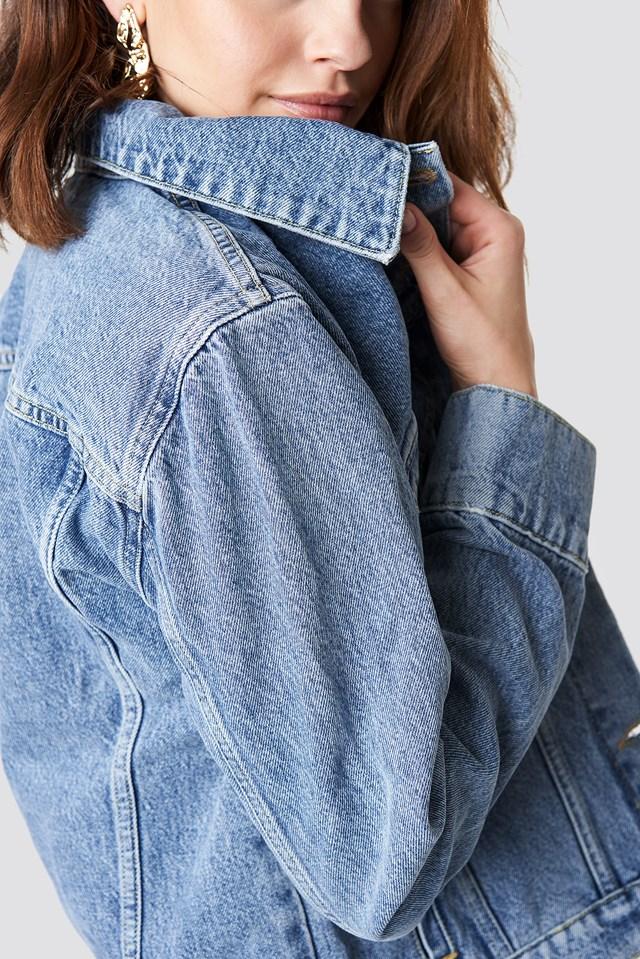 Regular Denim Jacket Mid Blue