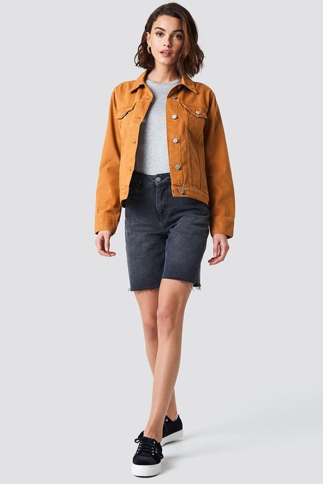 Regular Denim Jacket Rust